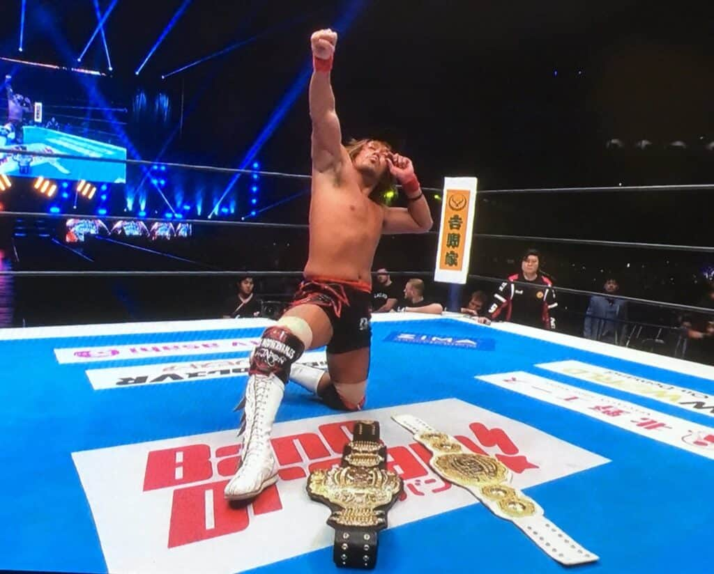 First ever New Japan double champion!